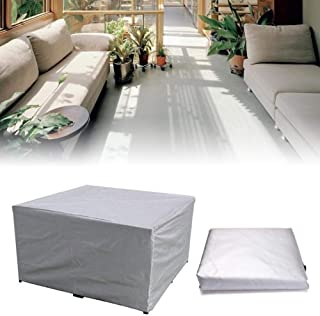 VibeFire Silver Garden Furniture Covers, Furniture Protector Waterproof and Anti-UV Outdoor Garden Windproof Cover Rectang...