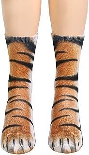 Beito, Unisex Divertido De La Pata Del Animal Patrón Calcetines 3d Pies Del Tigre De La Novedad Gráfico Impresión Animal Calcetines Para Hombres Mujeres