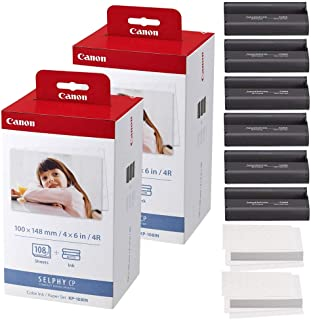 Best Canon KP-108IN Color Ink and Paper Set - Total of 216 Sheets and 6 Ink Cartridges Review
