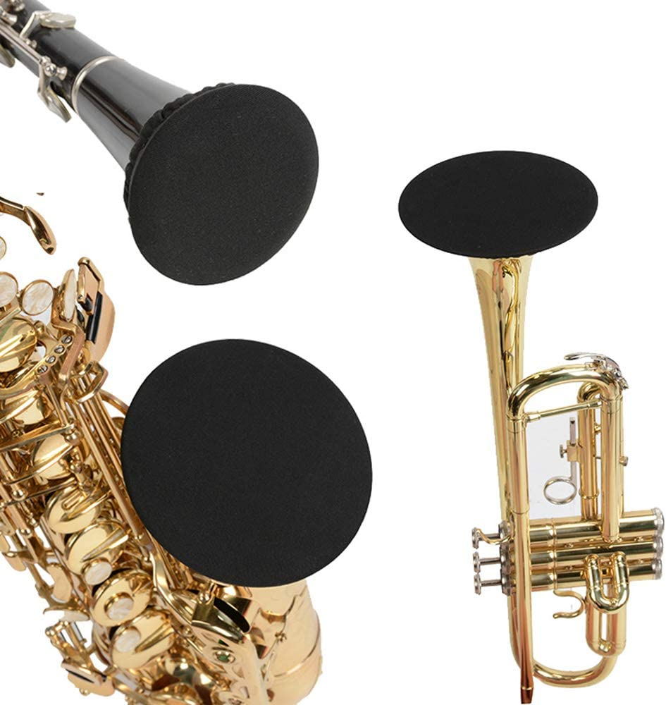 2.95-3.3inch Alto//Tenor Sax Instrument Bell Covers Bass Clarinet Reusable Elastic Dust-proof Saxophone Bell Cover Music Instrument Cleaning and Care Product Cover for Trumpet//Cornet