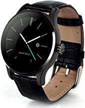 Smart Watch,Rucan K88H MTK2502C Bluetooth Smart Watch Heart Rate Track Wristwatch Leather (A)