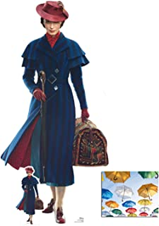 Mary Poppins Official Lifesize Cardboard Cutout/Standup/Standup Fan Pack, 187cm x 90cm Includes Free Mini Cutout and 8x10 Photo