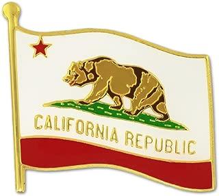 PinMart California US State Flag CA Enamel Lapel Pin 1