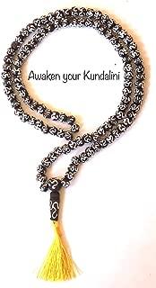 AwakenYourKundalini's Om Prayer Beads, Wooden Chanting Beads, Mantra Beads, Meditation Beads, Sacred Chakra mala Beads, Tassel Necklace (Root First Throat Fifth Chakra) - (Brown Black Om Mala Beads)