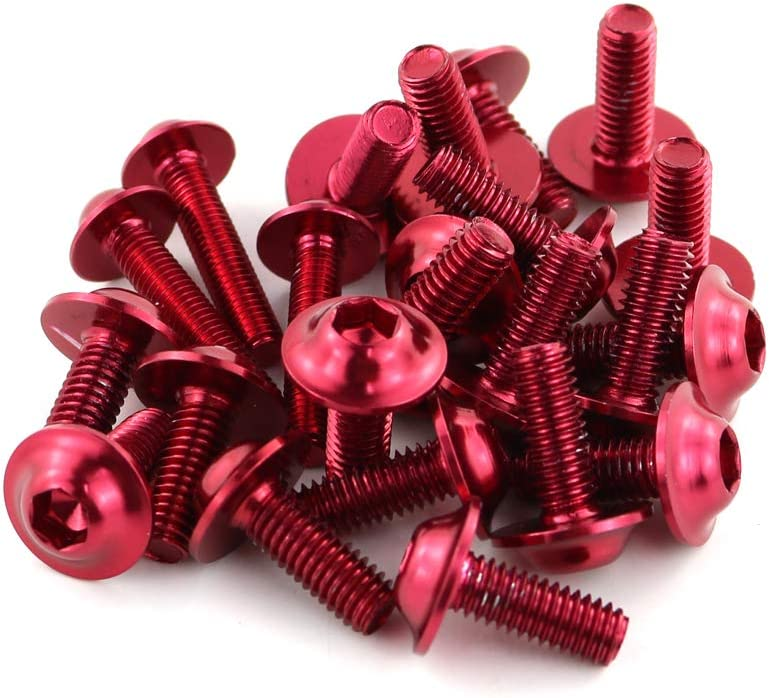 FZ1S YZF R1 R125 R3 XJR1300 Red MT-10 V-MAX MT-25 MT-03 MT-01 Xitomer Universal Fairing Bolt Kits Fasteners Fit for YAMAHA YZF R6