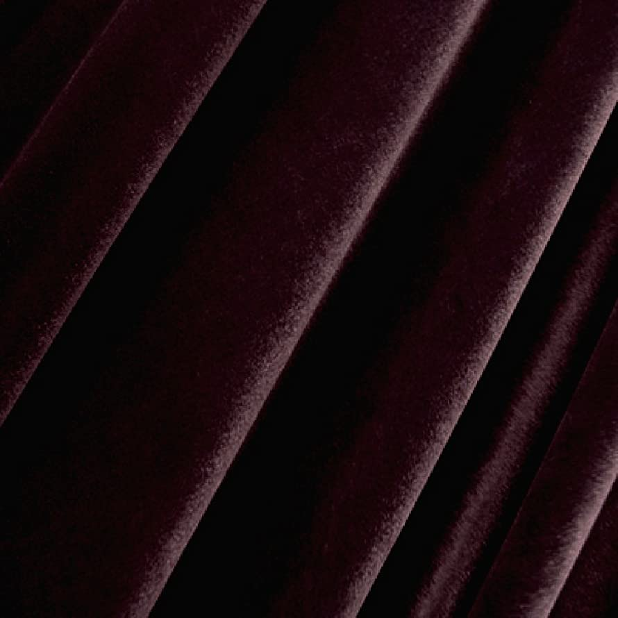 Stretch Velvet Fabric 12 Yards By The Bolt-Burgundy