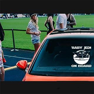 Baby Yoda Auto Aufkleber 2Er Pack Star Wars Baby On Board Auto Aufkleber Oder Laptop Aufkleber Oder Mandalorian Auto Aufkleber 18CM