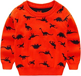 68eb3975e9a51 Hongyuangl Enfants Garçon Pull tricoté Sweater Jumpers Tricots,  Dinosaure/Cartoon Voiture