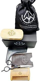 The Complete Man Beard Care Kit for Men - Ultimate Beard Grooming Kit (Brown)