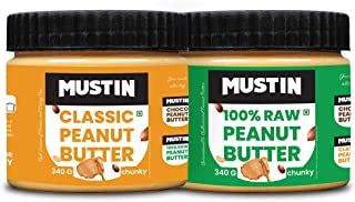 Mustin All Natural Peanut Butter Chunky(340g), Classic Peanut Butter Chunky(340g)