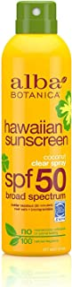 Alba Botanica Hawaiian Sunscreen Clear Spray, SPF 50, Coconut, 6 Oz