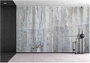 wall26 - Grunge Concrete Wall, High Resolution Background Texture Image - Removable Wall Mural   Self-Adhesive Large Wallpaper - 100x144 inches