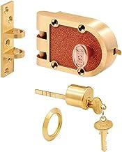 Prime-Line Producten SE 15326 Bronzen Deadlock met enkele cilinder en platte staking, messing