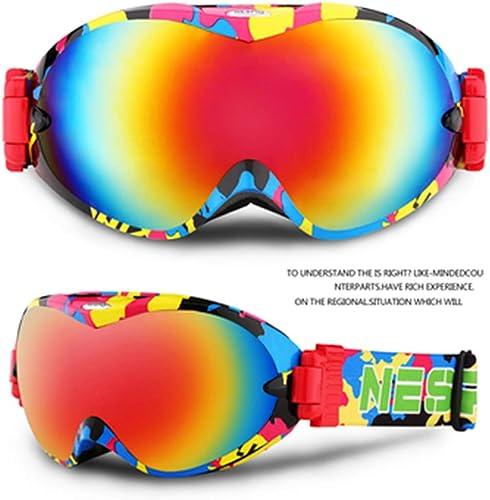 HuanXin-K092 Masques de Ski pour Hommes et Femmes Lunettes de Snowboard Anti-buée et 100% de Prougeection UV