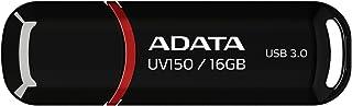ADATA 16 GB Memoria Flash USB 3.0 con Tapa Color Negro con Rojo (Modelo UV150)