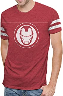 Marvel Comics Iron Man Varsity Logo Mens T-Shirt | Avengers Infinity War Edition