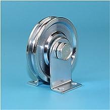 Schuifdeurrol Schuifstalen touwrollen/katrollen/wielen met 6001R's dragende diepe u-groef, diameter 73mm, dikte 13.5mm met...