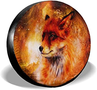 All agree Universal Spare Tire Cover Fire Fox in Space Car RV Camper Wheel Tyre Covers Protectors for Trailer, SUV, Travel, Truck, Boat, Motorhome, Vehicle, Auto Accessories, Waterproof