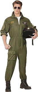 Widmann - kostuum vechtjet pilot Medium groen