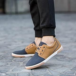 Hemlock Flat Shoes Mens, Men's Casual Shoes Sport Shoes Men Lace Up Loafers Moccasins Male Shoes (US:6.5, Blue)