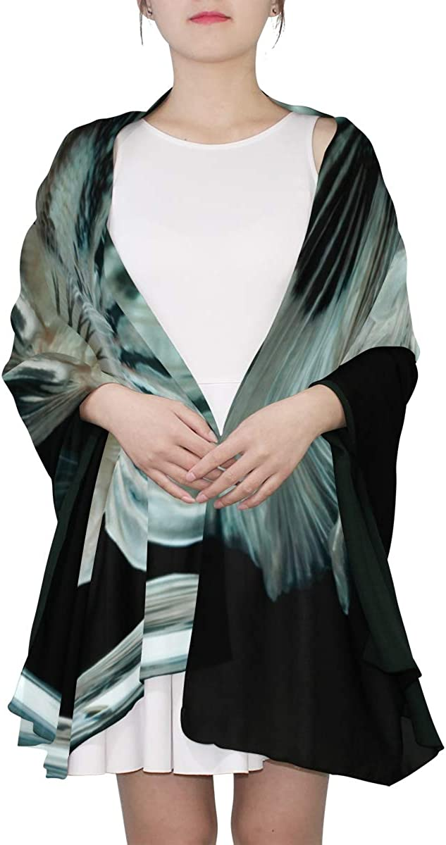 Blue Siamese Fighter Unique Fashion Scarf For Women Lightweight Fashion Fall Winter Print Scarves Shawl Wraps Gifts For Early Spring