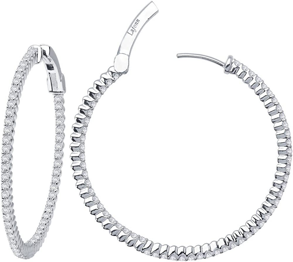 Lafonn Time sale Classic Sterling Silver Platinum Plated Simulated New arrival Lassire