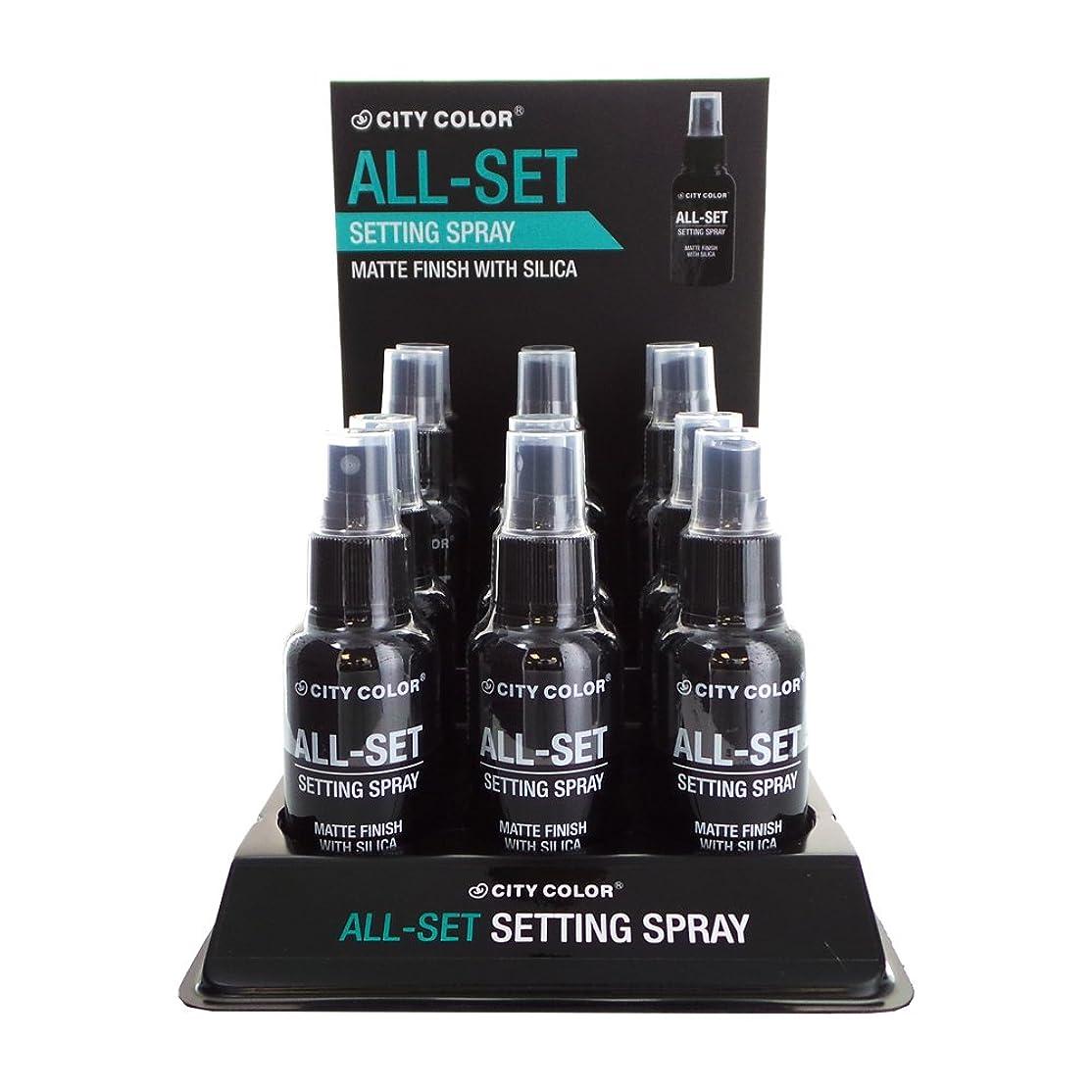 低下ラメ織機CITY COLOR All-Set Setting Spray Display Set, 12 Pieces (並行輸入品)