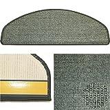 Karat 23 grau, Sisal Stufenmatte aus deutscher Produktion, mit Sicherheitswinkel, solider Verarbeitung und wohnlichen Farben