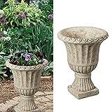 Amphore aus Zement │antikes Design │Höhe 17cm │Pflanzgefäß zur Gartendekoration