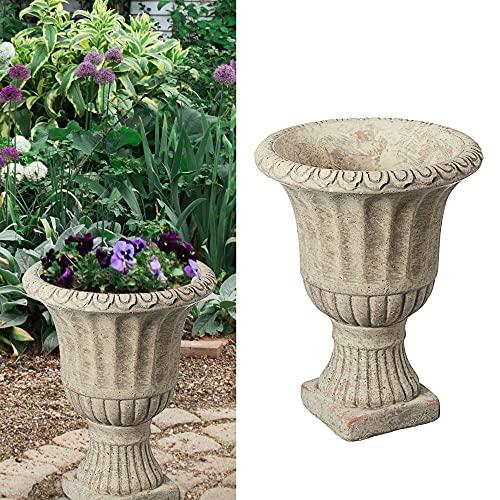 Amphore in cemento, design antico, altezza 17 cm, vaso per decorazione da giardino