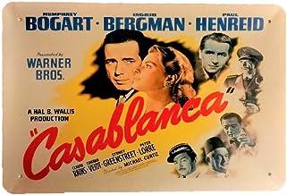 DiiliHiiri Cartel de Chapa Vintage Decoración, Letrero A4 Estilo Antiguo de metálico Retro-Casablanca