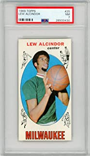 Lew Alcindor 1969-70 Topps Basketball Rookie Card RC #25 PSA 7 Near Mint