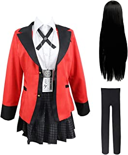 Bestcomcl Jabami Yumeko Cosplay Outfit Uniform Perücken Set
