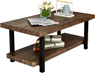 Coffee Table with Storage Under Frame, Perfect for Living Room/Bedroom, Family Room/den/Library/Study, Dark Brown Coffee Table 42.12 x 22.04 x 18.11 inch, Rectangular, Durable, Easy Assembly