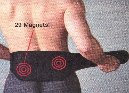MAGNETIC BACK SUPPORT BELT WITH 29 MAGNETS by Magnetic Therapy