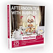 Buyagift Afternoon Tea with Bubbles Gift Experiences Box - 275 traditional afternoon tea experiences with fizz
