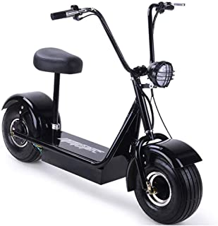 SXMOTO Electric Scooter Bike Moped Adult with Seat - 500W 48V Hub Motor - Front LED Light