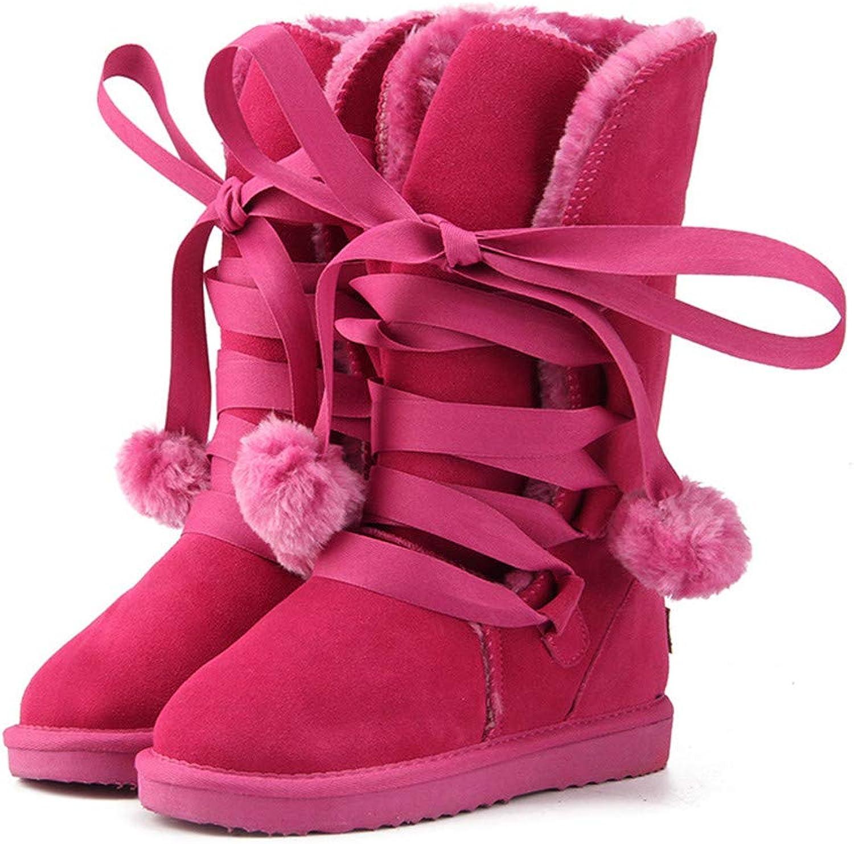 Julitia Julitia Julitia Snow Boot s Woherrar Winter Boot kvinnor mode Genuine läder  upp till 70%