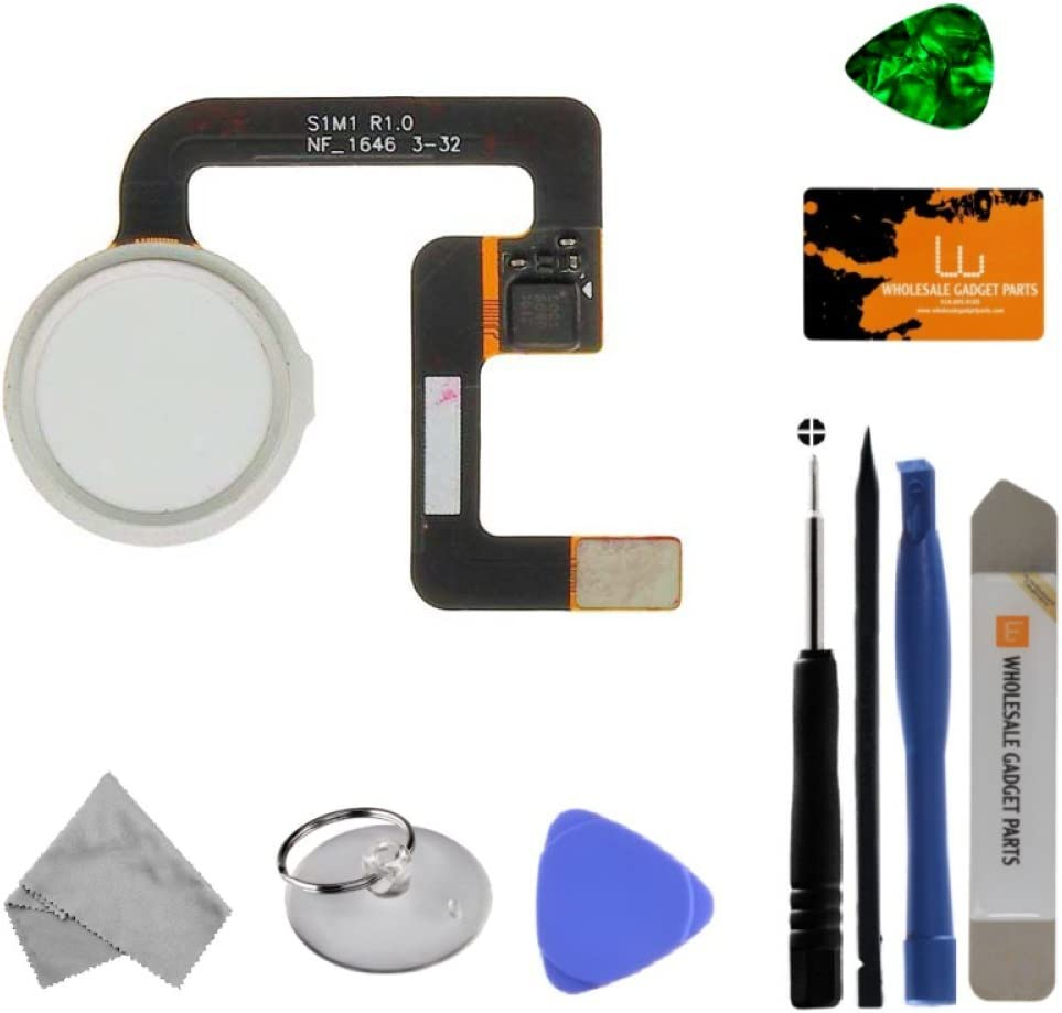 Home Button (with Fingerprint Scanner) for Google Pixel (White) with Tool Kit