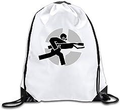Mochila con cordón, Mochila Deportiva, Mochila de Viaje, Tf2 Team Fortress White Drawstring Backpack Sport Bag for Men & Women