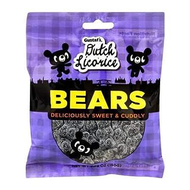 Licorice Bears 5.2 oz regaliz piezas por Gustaf`s