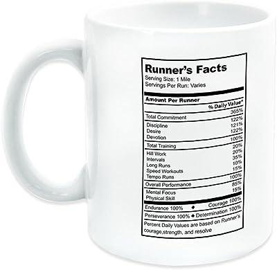 Runner's Facts Ceramic Mug | Running Coffee Mug by Gone For a Run | White