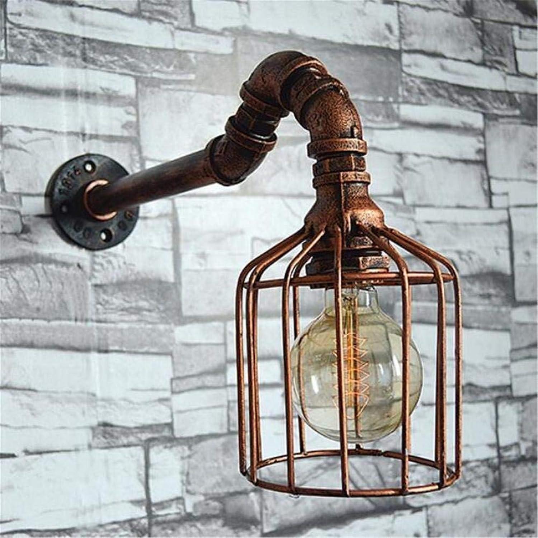 YWJWJ Vogelkfig Retro Eisen Metall Wandleuchte Wasserleitung Glühbirnen (Dieser Artikel hat Keine Glühbirne).