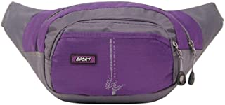 Travel Essential, Stylish and Durable Multi-Function Pocket Zipper Small Square Business Wallet (Color : Purple, Size : 33x15x28cm)