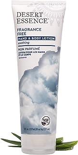 Desert Essence Fragrance Free Hand & Body Lotion - 8 Fl Ounce - Soothing - Aloe Vera - Shea Butter - Green Tea - Coconut O...