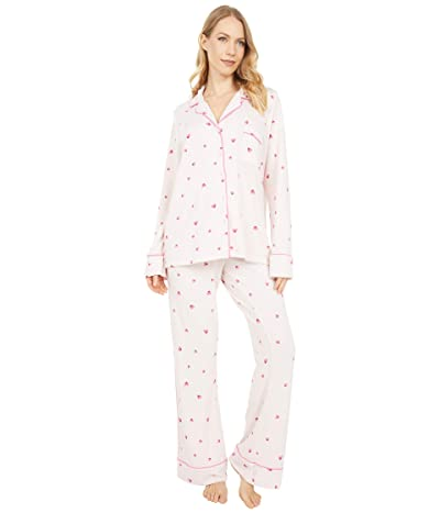 Splendid Pillowsoft Notch Collar PJ Set (Love is Splendid) Women