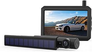 "$185 » Solar Wireless Backup Camera, 720P True Wireless DIY Installation with Digital Signal, 5"" Monitor Supports 2 Rear View Cam..."