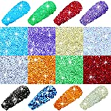 11520 Pieces 1.2 mm Mini Crystals Micro Pixie Nail Rhinestones DIY Crystal Gems Stones Glass Sand Rhinestones for Home Beauty Salon Nail Decorations (Assorted Chic Colors)