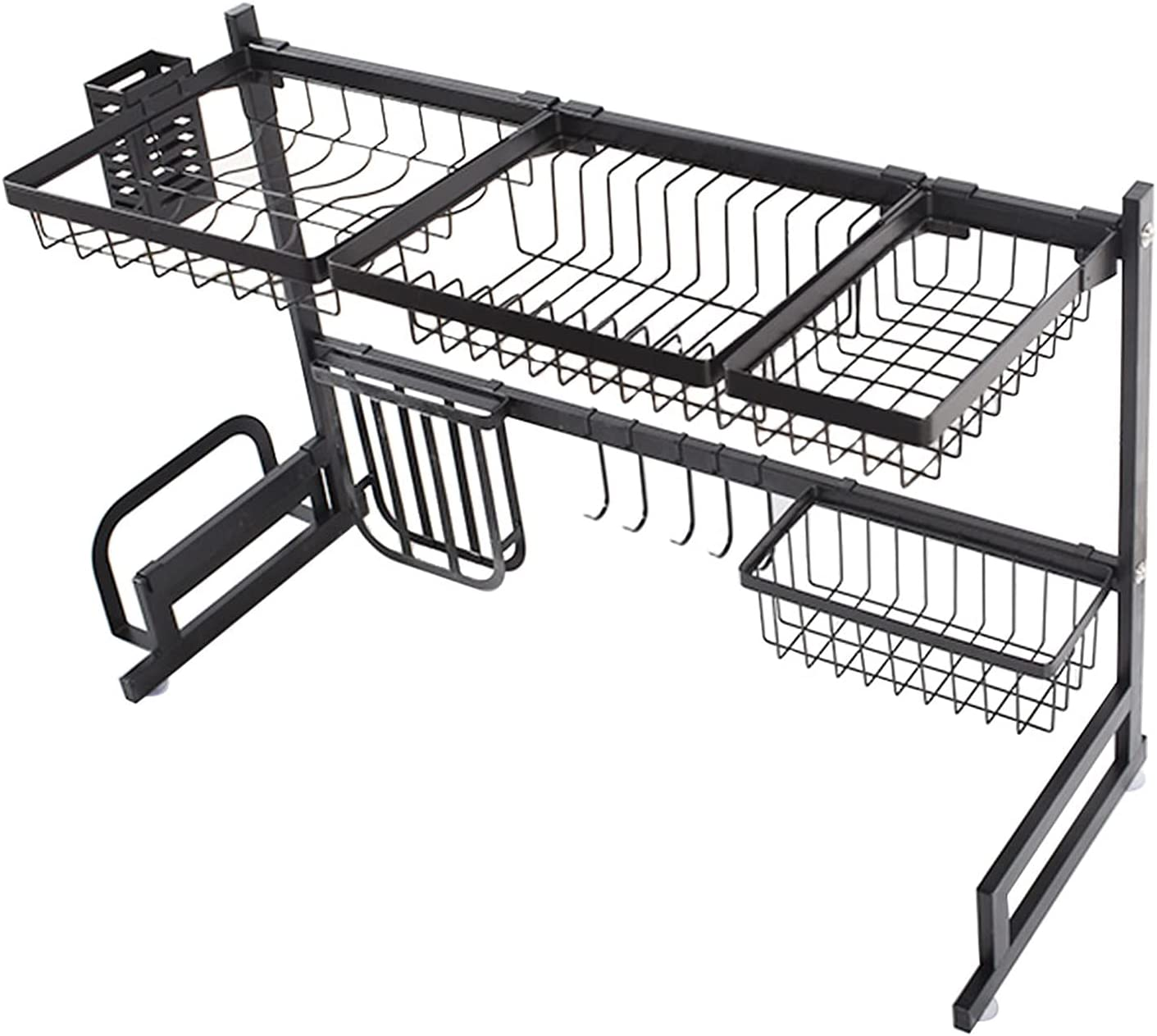 service mitoharet Over The Sink New York Mall Dish Drying DIY Rack Tableware R 2-Layer