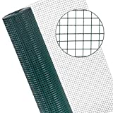 ESTEXO Volierendraht Drahtgitter Maschendraht Schweißgitter Drahtzaun Zaun Draht grün Kaninchendraht Käfigdraht Hasendraht 16 x 16 mm Maschenweite (1 x 10 m)